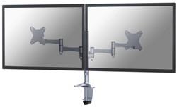 Flatscreenarm Newstar D1330D klem voor 2 schermen zilver