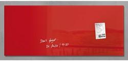 Glasbord Sigel magnetisch 1300x550x15mm rood