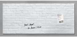 Glasbord Sigel magnetisch 1300x550x15mm klinker