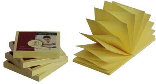 Memoblaadjes Quantore Z-Note 75x75mm geel