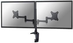 Flatscreenarm Newstar D1330D klem voor 2 schermen zwart
