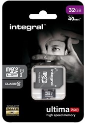 Geheugenkaart Integral Micro SDHC class10 +adapter 32GB