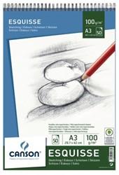 Schetsboek Canson A3 100gr 50vel