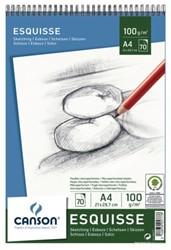 Schetsboek Canson A4 100gr 70vel