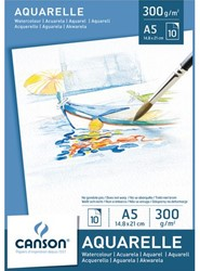 Aquarelblok Canson A5 300gr 10vel