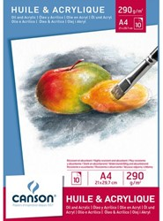 Olie Aquarelblok Canson A4 290gr 10vel