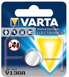 Batterij Varta knoopcel V13GA lithium blister à 1stuk