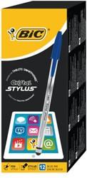 Balpen Bic Cristal Stylus blauw