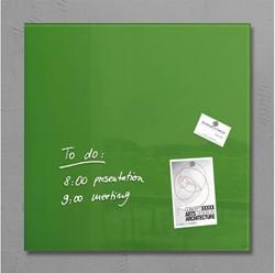 Glasbord Sigel magnetisch 480x480x15mm groen