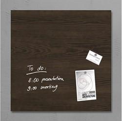 Glasbord Sigel magnetisch 480x480x15mm dark wood