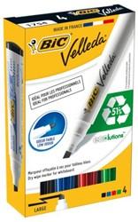 Viltstift Bic 1751 whiteboard schuin ass 3-5.5mm set à 4st
