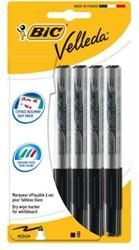 Viltstift Bic 1741 whiteboard rond zwart 1,4mm blister à 8st