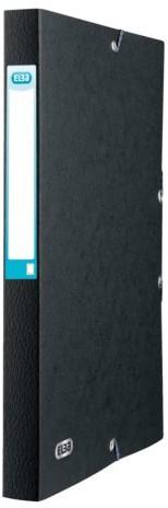 Elastobox Elba A4 25mm met rugetiket zwart