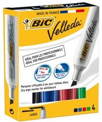 Viltstift Bic 1781 whiteboard schuin assorti 3-6mm set à 4st