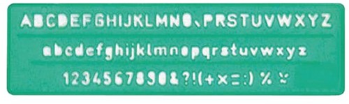 Lettersjabloon Linex 5mm hoofdletters/letters/cijfers