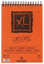Schetsblok Canson XL Croquuis A4 90gr 120vel spiraal