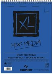 Aquarelblok Canson  XL Mix Media  A3 300gr 30vel spiraal