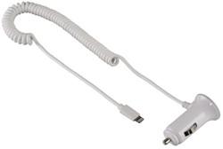 Autolader Hama voor iPhone 5/5S/5C 6/6Plus wit