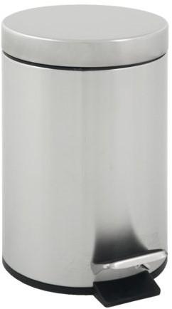 Afvalbak pedaalemmer RVS mat rond 5 liter