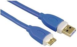 Kabel Hama  micro USB 3.0 1,8M blauw