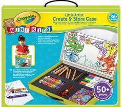 Creatie- en opbergkoffer Crayola minikids 50-delig