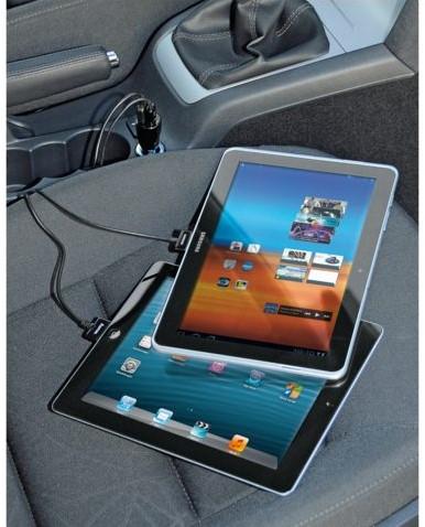 OPLADER AUTO HAMA PICCO 2X USB 12V 4.8A ZWART