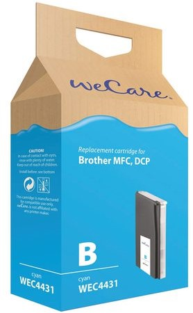 Inkcartridge Wecare Brother LC-1000 LC-970 blauw