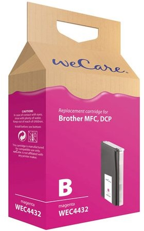Inkcartridge Wecare Brother LC-1000 LC-970 rood