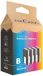 Inkcartridge Wecare Brother LC-1000 LC-970 zwart + 3 kleuren