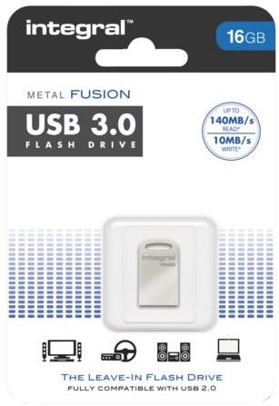 USB-Stick 3.0 Intergal FD Metal Fusion 16GB