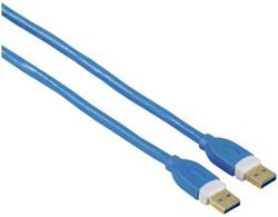 KABEL HAMA USB 3.0 GOLD-P 1.8M BLAUW