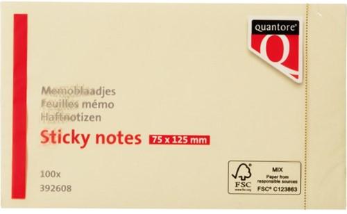 Memoblaadjes Quantore 75x125mm geel-1