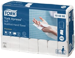 Handdoek Tork H2 100288 2laags 21x34cm wit 21x110st