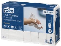 Handdoek Tork H2 100297 2laags 22x34cm wit 21x100st