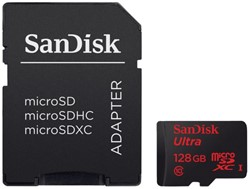 Geheugenkaart Sandisk Micro SDHC Class10 Android 128GB