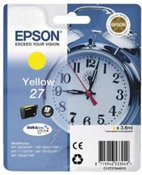 Inkcartridge Epson 27 T270440 geel