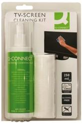 Reiniger Q-Connect beeldscherm microvezeldoek + spray 250ml
