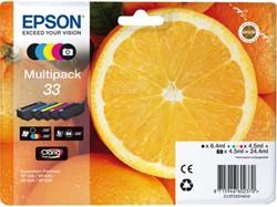 Inkcartridge Epson 33 T333740 2x zwart+ 3 kleuren