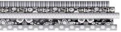 Inpakpapier Hoomark 200x70cm black and white assorti