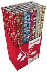 Inpakpapier Hoomark 200x70cm christmas assorti