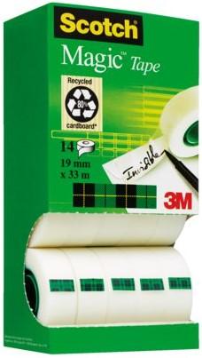 Onzichtbaar plakband Scotch Magic 810 19mmx33m 7+7 gratis