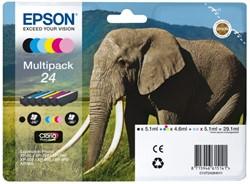 Inkcartridge Epson 24 T242840 foto HD zwart + 5 kleuren