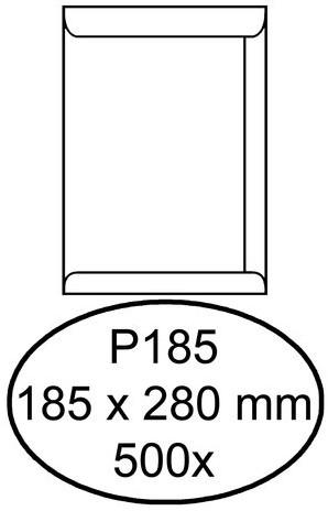 Envelop Hermes akte P185 185x280mm wit 500stuks