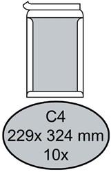Envelop Quantore bordrug C4 229x324mm zelfkl. wit 10stuks