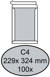 Envelop Quantore bordrug C4 229x324mm zelfkl. wit 100stuks