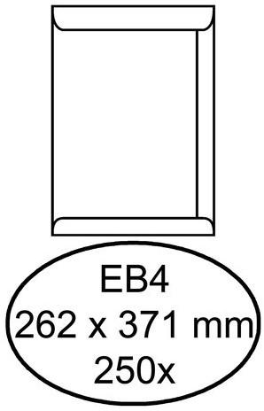 ENVELOP HERMES AKTE EB4 262X371 120GR 250ST WIT