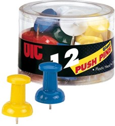 Push pins Oic giant assorti