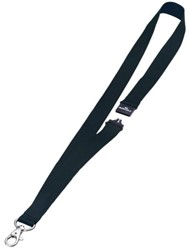 Textielkoord Durable 8137 met karabijnhaak zwart