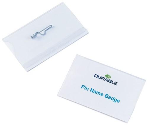 Badge Durable 8004 met speld 54x90mm
