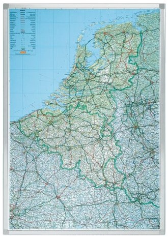 Landkaart Legamaster Benelux 120x92cm